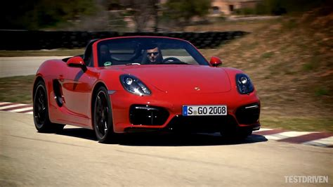 porsche boxster red 2014 porsche boxster gts on track youtube
