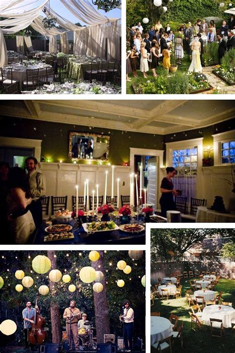 small wedding reception ideas at home best 25 home wedding