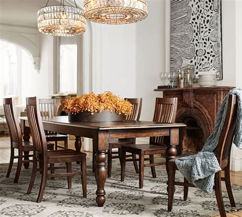 pottery barn dining room set evelyn extending dining table trieste chair 7 piece