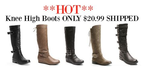 kohls cardholders women s knee high boots only 20 99 shipped