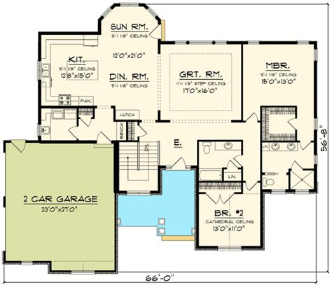 floor plans with garage on side open concept home with side load garage 89912ah 1st