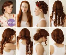 Vintage hairstyle for long hair a 1930s bride updo