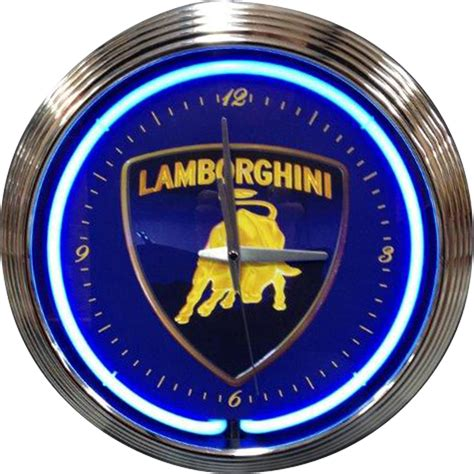 Lamborghini Neon Sign Neon Clocks Lamborghini Neon Clock Neon Effect