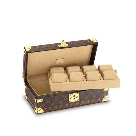 Leather Bag De Valeur 1 coffret 8 montres toile monogram voyage louis vuitton