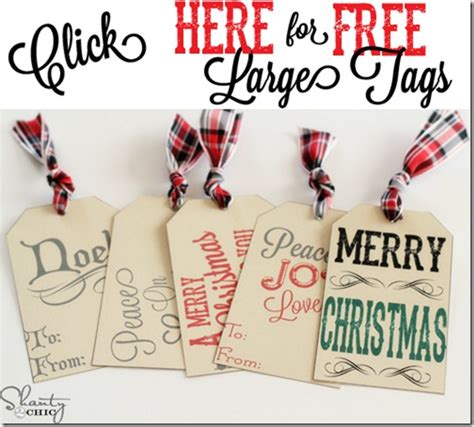 big printable christmas gift tags 6 best images of large printable gift tags free