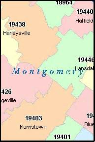 montgomery county zip code map glenside pennsylvania pa zip code map downloads