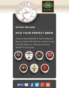 Green Mountain Coffee Instant Win - win a keurig or green mountain k cup sler box instantly through 9 26 i don t