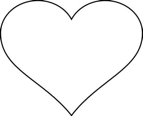 white plain heart large clipart best