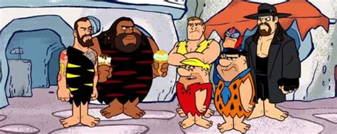 film the voices adalah the flintstones and wwe stone age smackdown 2015