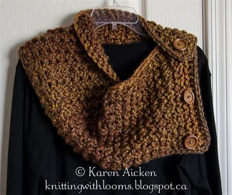 cowl loom knitting pattern knitting with looms finished chunky cowl