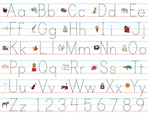 with pictures abc practice sheet for children loving printable