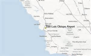 san luis obispo california map san luis obispo airport weather station record