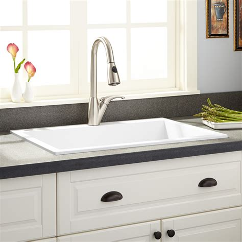 30 drop in sink 30 quot holcomb drop in granite composite sink cloud white