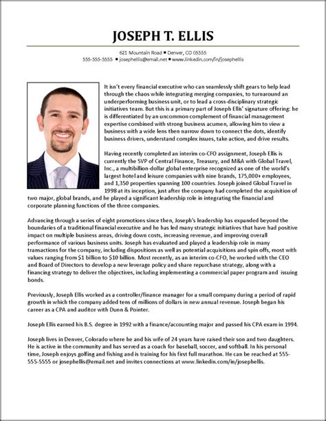 Executive Biography Example for CFO   Resume Examples   Pinterest   Examples, Biography and