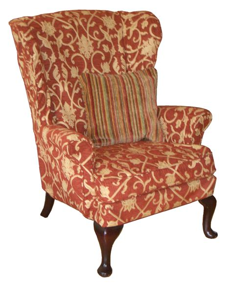 red striped armchair red stripe wing chair chairs seating
