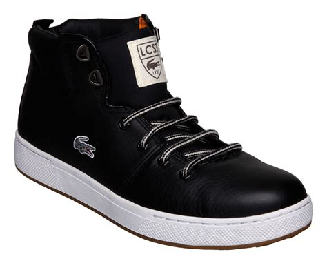 lacoste studland hiker boots in black for lyst