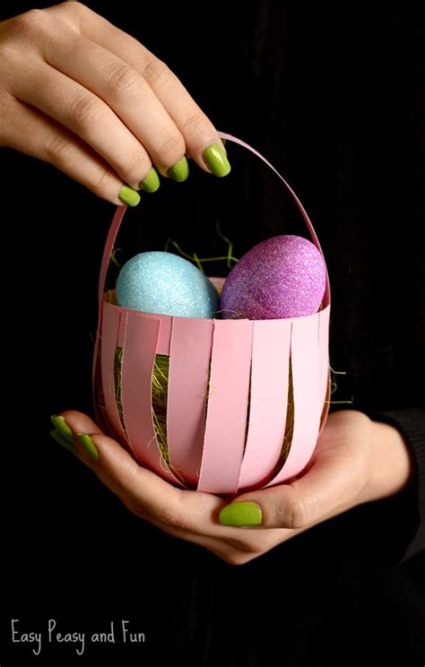 Paper Basket For - diy easter paper basket craft easy peasy and