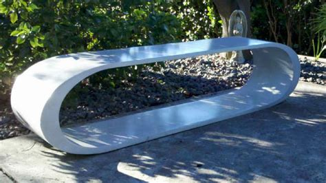 custom concrete benches custom concrete bench contemporary outdoor products