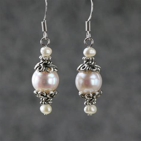 Handmade Earring Ideas - pearl drop earrings bridesmaids gifts free us by