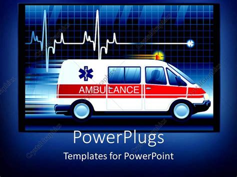 ambulance powerpoint template powerpoint template an ambulance with a human animation