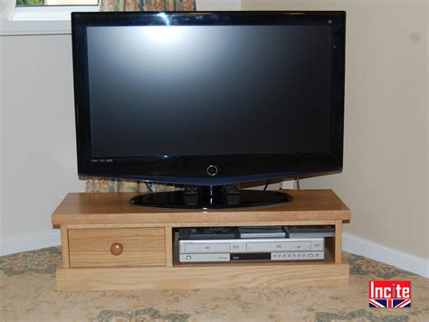 Handmade Tv Unit - handmade contemporary low oak tv unit by incite