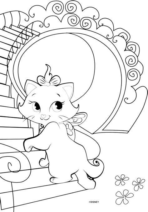 marie cat coloring pages coloring home