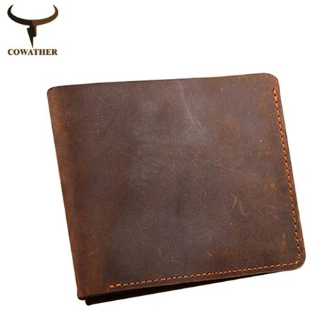 Genuine Leather cowather leather wallets vintage genuine