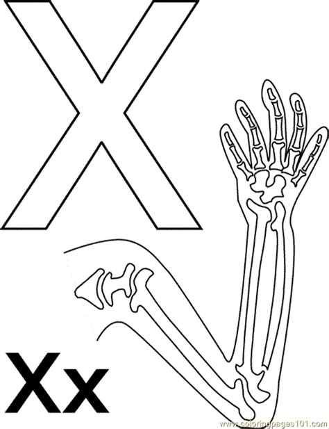 x ray printable coloring pages x xray coloring page free alphabets coloring pages