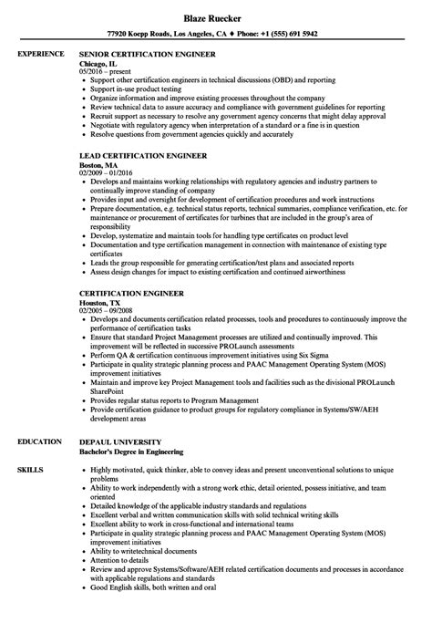 Certified Plant Engineer Cover Letter by Certified Plant Engineer Sle Resume Best Company Profile Format