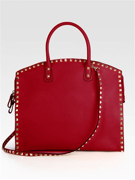 Valentino Studded Tote by Valentino Studded Dome Tote In Lyst