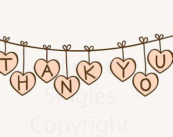 Wedding Thank You Clipart by Clipart Digital Clip Banners Thank You Banner