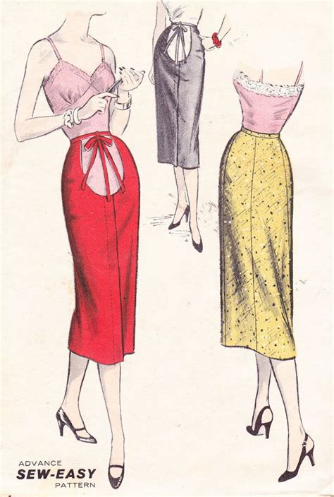 vintage 1950s s sewing pattern maternity pencil