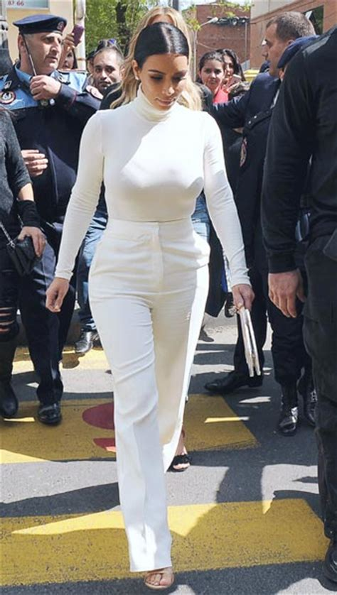 all white outfits shopstyle all of kim kardashian s outfits from her trip to armenia