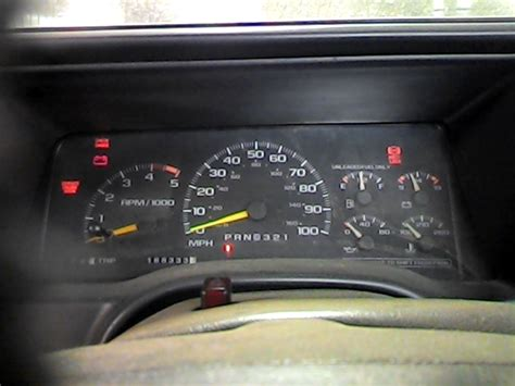 how does cars work 1995 chevrolet 1500 instrument cluster 1995 chevy 1500 pickup speedometer instrument cluster gauges 2596737 257 01953