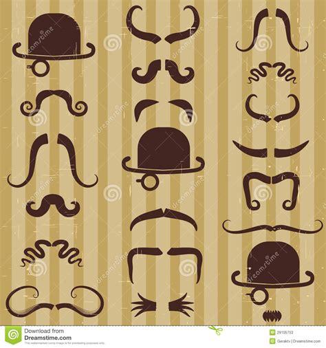 imagenes de hombres retro gentlement con el bigote y el sombrero en vintage fotos de