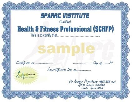 health fitness specialist health fitness certificate course