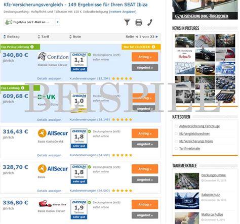 Günstige Kfz Versicherung Ohne Vorversicherung by Seat Ibiza Versicherung Jetzt Kfz Versicherung Vergleichen