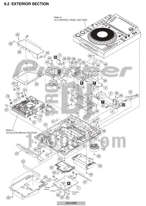 dj pro audio service repairs pioneer cdj2000 exploded