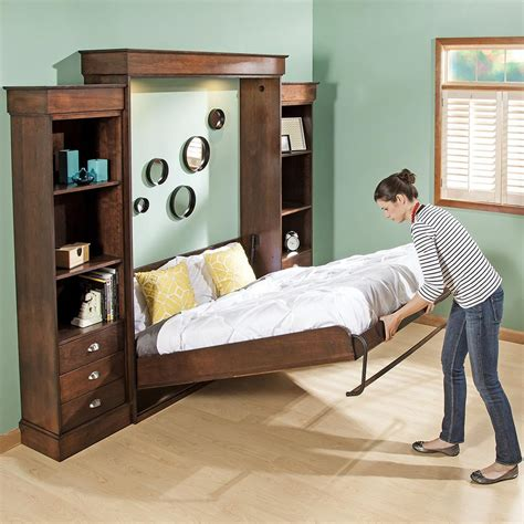 horizontal murphy bed queen save space with murphy bed horizontal queen room decors