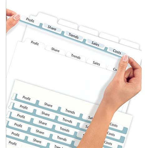 Avery Index Maker Clear Label Dividers 8 5 X 11 Inch 5 Tab White Tab 50 Sets 11556 Buy Avery 8 5 X 11 Label Template