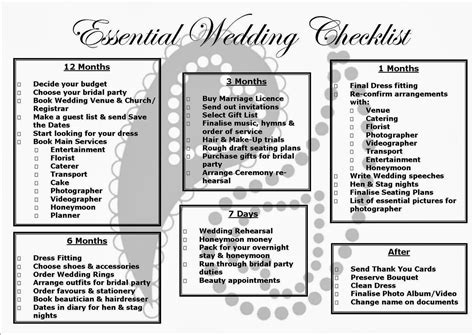 twende harusini wedding checklist