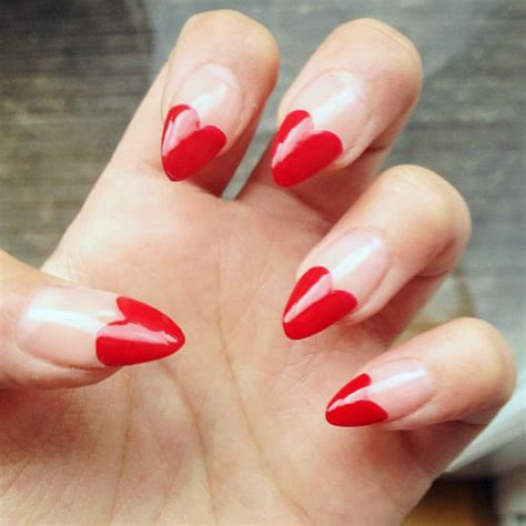 ella eyre clear red heart tips hearts nails steal