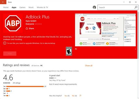 test adblock adblock extensions released for windows 10 edge browser