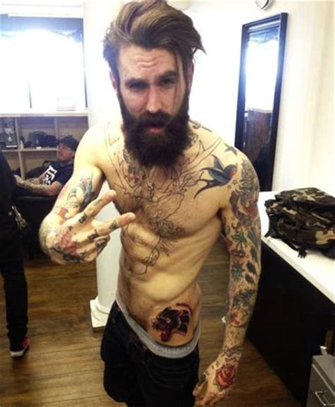 Ricki Hall ? Tattoo and Beard Model on Tattooing   Man