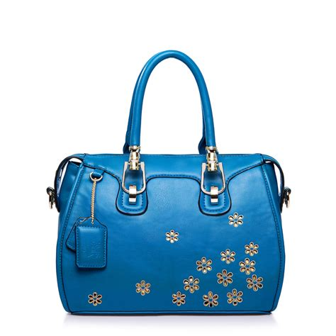 Crt Bag Flower charming handbags with flowers blue