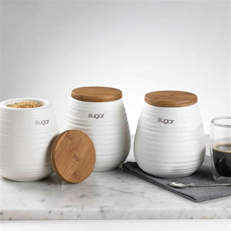 ceramic kitchen storage canister set