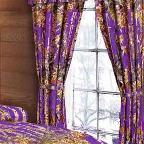 purple camo curtains orange camo sheet set the sw company