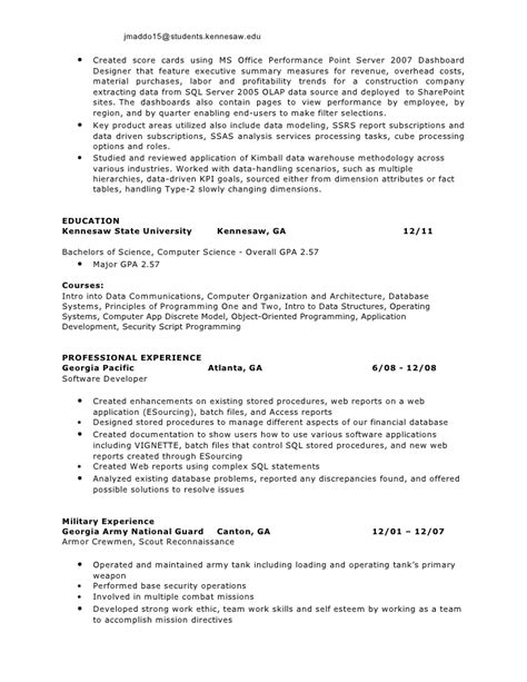 Experienced Resume Sles For Software Engineers by Software Engineer Resume Summary Kerrobymodels Info