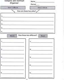 Writing A Compare And Contrast Essay Middle School by Compare And Contrast Essay Graphic Organizer Middle School Compare And Contrast Essay Graphic