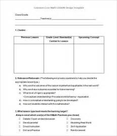 lesson plan template math doc 580642 math lesson plan template common